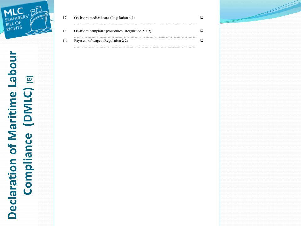 Declaration of Maritime Labour Compliance (DMLC) [8]